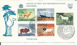 SOM085 - SOMALIA - BUSTA PRIMO GIORNO FDC - ANIMALI DOMESTICI  10.04.1972 - Somalia (1960-...)