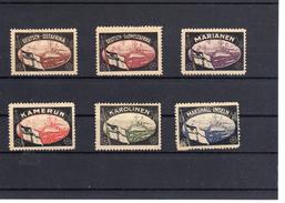 6 Vignetten Dt. Kolonien  (  N  6655  ) - Deutschland
