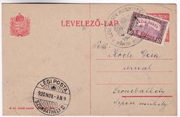 Hungary 8 NOV 1920 N9 The Opening Of Airmail Szombathely 2 Rakosi Airshow L'ouverture De La Poste Aérienne