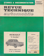 """Revue Technique Automoblile ( RTA ) - Renault 8 """" Gordini """" - 1971 - Auto"""