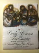 3933 - Cindy's Reserve 1983 Cabernet Sauvignon  Musiciens Illustration Godfrey Ndabe Afrique Du Sud - Art