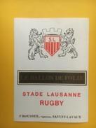 3934 -  Rugby Le Ballon De Folie Stade Lausanne Suisse - Sonstige