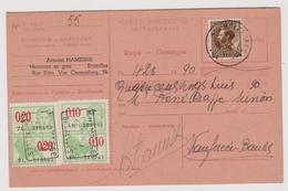 Carte Récépissé Ontvangkaart 402 Bruxelles à Wanfercée-Baulet Timbre Fiscal - Briefe U. Dokumente