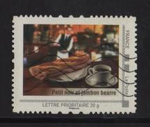 Timbre Personnalise Oblitere - Lettre Prioritaire - Petit Noir Et Jambon Beurre - France