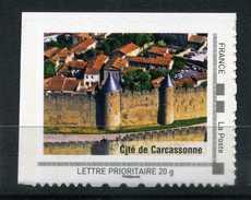"""Cité De CARCASSONNE Adhésif Neuf ** . Collector """" Le Languedoc-Roussillon """"  2009 - France"""