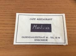 """Ancien Sachet De Sucre Pays-Bas Suiker """"CAFÉ RESTAURANT Metro - ENSCHEDE"""" Années 60 - Sugars"""
