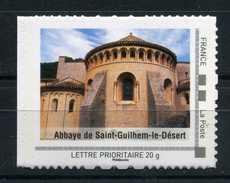 """Abbaye De Saint Guilhem Le Désert Adhésif Neuf ** . Collector """" Le Languedoc-Roussillon """"  2009 - France"""