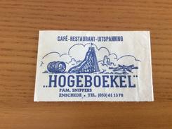"""Ancien Sachet De Sucre Pays-Bas Suiker """"CAFÉ RESTAURANT UITSPANNING HOGEBOEKEL - ENSCHEDE"""" (parc Attractions) Années 60 - Sugars"""