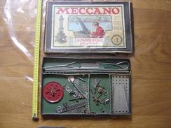 Ancien JEU JOUET MECCANO Construction Diverses Pieces 2 Boites - Meccano