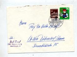Lettre Cachet Regensburg Federation Catholique Employeur - Marcofilia - EMA ( Maquina De Huellas A Franquear)