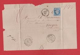 Plis  / De Yvetot / Pour Angers   / 10 Juin 1875 - Storia Postale