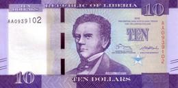 LIBERIA   10 Dollars  Emission De 2016    ***** BILLET  NEUF ***** - Liberia