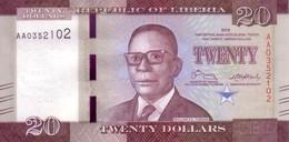 LIBERIA   20 Dollars  Emission De 2016    ***** BILLET  NEUF ***** - Liberia