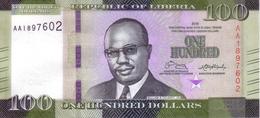 LIBERIA   100  Dollars  Emission De 2016    ***** BILLET  NEUF ***** - Liberia