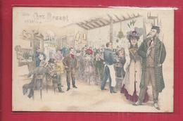CPA Illustrateur Chez Aristide Bruant - Cabaret Illustration Art Nouveau - Künstlerkarten