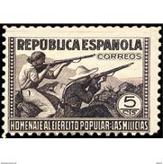 ES792STV-LTV***792STMIL.Spain.Esgane .Militar.HOMENAJE AL EJERCITO POPULAR.1938(Ed 792**) - Militares