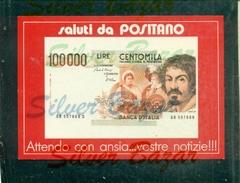 POSITANO-CENTOMILA-WALT DISNEY-ZIO PAPERONE - MARCOFILIA - Monete (rappresentazioni)