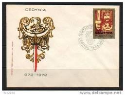 POLAND FDC 1972 1000TH ANNIV OF BATTLE OF CEDYNA Victory Of King Mieszka Against Geman Germany Armies - FDC