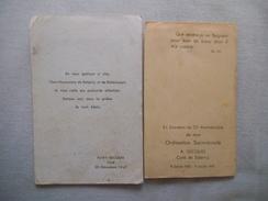 A.GICQUEL CURE DE SALENCY SOUVENIR DU 25e ANNIVERSAIRE DE MON ORDINATION SACERDOTALE 9/7/22-9/7/47 ET DEPART 20/12/1947 - Andachtsbilder