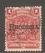 002965 Rhodesia 1909 1d FU - Great Britain (former Colonies & Protectorates)