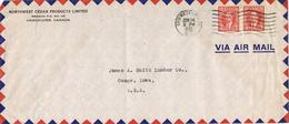 23934. Carta Aerea NEW WESTMINSTER (BC) Canada 1939 To USA