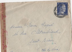 ALL-L84 - ALLEMAGNE Lettre De Francfort Pour Saint-Brieuc Avec Censure Allemande - Germany