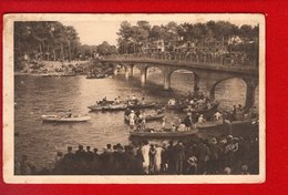 1 Cpa Carte Postale Ancienne - Hosségor Pres De Capbreton Sur Mer Le Pont Et Les Régates - Hossegor