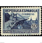 ES796STV-LTV***796STMIL.Spain.Esgane .Militar.HOMENAJE AL EJERCITO POPULAR.1938(Ed 796**) - Militares
