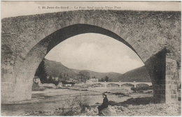 SAINT JEAN DU GARD (30) - LE PONT NEUF SOUS LE VIEUX PONT - Saint-Jean-du-Gard