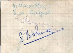 VILLACOUBLAY (78) Ecole Breguet - Signatures Aviateurs   ( 96301) - Autographes