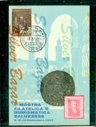 SALUZO-MOSTRA FILATELICA-MARCOFILIA - Monete (rappresentazioni)