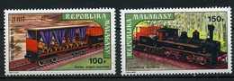 Madagascar YT PA 127-128 XX/MNH Train - Madagascar (1960-...)