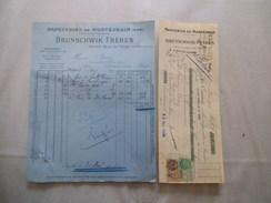 PAPETERIES DE MONTEVRAIN SEINE ET MARNE BRUNSCHWIK FRERES FACTURE ET TRAITE DU 8 AVRIL 1927 ET 12 MAI 1927 - Imprimerie & Papeterie