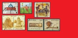 India 2013 2014 2015, Foot / Charkha Spinning Wheel / Temples Nabakalebara - Timbres