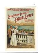 16552 - Chemins De Fer Compagnie Internationale Des Wagons Lits Engadine Express (reproduction D'affiche Format 10X15) - GR Grisons