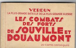 Militaria - Guerre 1914-18 - Verdun - Combats Forts De Souville Et Douaumont - Beau Carnet De 20 Cartes - Bon état - War 1914-18