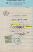 FISCAUX DE FRANCE  1929 Série Fiscale Unifiée N° 30  3F Vert Et 27 2F Vert Sur Papier Timbre 3F60 Filigrane 1928 - Fiscaux