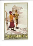 16554 - Adelboden Couple Skieurs Par Carlo Pellegrini (reproduction D'affiche Format 10X15) - BE Berne