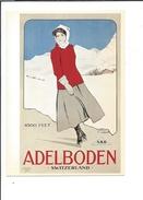 16556 - Adelboden Patineuse Par Carlo Pellegrini (reproduction D'affiche Format 10X15) - BE Berne