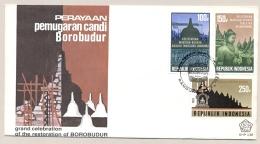 Indonesia - 1983 - Restoration Of Borobudur - FDC - No Address - Indonesië