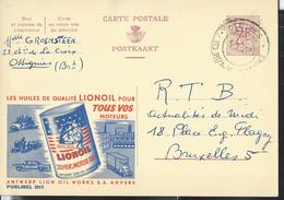 Publibel Obl. N° 2015 ( Huiles LIONOIL -lion-félins) Moteur-cars-auto-tracteur) Obl.  Ottignies 1964 - Publibels