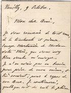 """Lettre Adressée De NEULLY  A De Marsaguet Signée """"Tristan""""   ( 96310) - Autographs"""