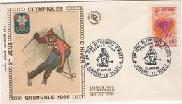 JO-L5 - ANDORRE FDC JEUX OLYMPIQUES DE GRENOBLE 1968 - FDC