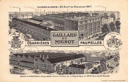 Gaillard Et Mignot - Charnières, Paumelles  - Usine De Montreuil-sous-Bois - Ohne Zuordnung