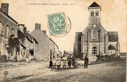 - ST-AUBIN-du-DESERT - Eglise - Place - France