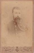 Bruxelles Photo CDV Format Cabinet Militaire Officier Belge Décoration Congo ? Par GUERIN Vers 1885-1890 - Anciennes (Av. 1900)
