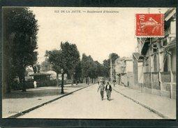 CPA - ILE DE LA JATTE - Boulevard D'Asnières, Animé - Asnieres Sur Seine