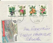 Austria Nice Little Cover Good Franked Sent To Sweden 20-3-1989 - 1981-90 Cartas