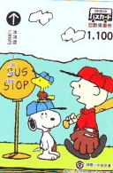Carte Prépayée  Japon * CARTOON * CHIEN * SNOOPY (475) BD COMICS * DOG Japan PREPAID CARD * HOND * HUND - Comics