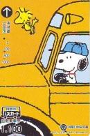 Carte Prépayée  Japon * CARTOON * CHIEN * SNOOPY (480) BD COMICS * DOG Japan PREPAID CARD * HOND * HUND - Comics